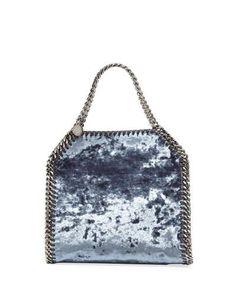 d6a2507b81 Falabella 3-Chain Fold-Over Velvet Tote Bag Stella Mccartney Falabella