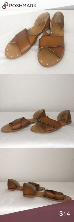 "/""NEW/"" SONOMA Women/'s Slip On Sandals Brown Man Made Materials~Size 9-10"