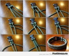 DIY Bracelet for men, but if you used different colors, or different string it could defiantly be for girls too :)