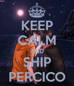 KEEP CALM AND SHIP PERCICO! ^.^ I just had to make one for them!