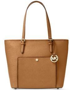 8f45b5f1ba58 Michael Kors Jet Set Item Saffiano Leather Pocket Tote - Handbags &  Accessories - Macy's