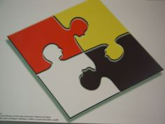 Multiracial Jigsaw Puzzle  Do you see the faces? I didn't at first.