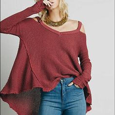 Free People Swing Tunic I love this Free People pullover sweater tunic with cold shoulder details . The sleeves are meant to be long with ruching details . Swing effect with high low hemline . Color is beautiful dusty Violet . Size M Nwt full price on free people.com Free People Sweaters