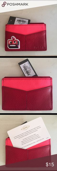 NWT Fossil card holder Cute fossil card holder NWT Fossil Bags Wallets