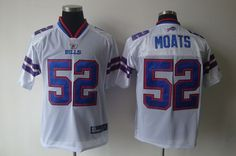 Bills #52 Arthur Moats White 2011 New Style Stitched NFL Jersey