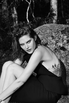 Catherine McNeil wears Dress Balenciaga. Ear cuff worn throughout Repossi. All other earrings model's own.