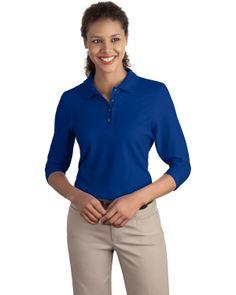 Silk Touch Sport Shirt - Buy cheap new port authority ladies silk touch 3/4-sleeve sport shirt at Gotapparel.com.