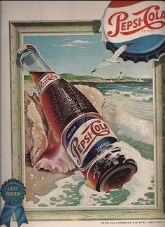 Pepsi Gran Premio: Vintage 1954 ad by puercozon, via Flickr