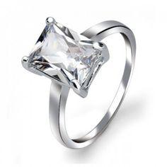 Cubic Zirconia Engagement Rings Emerald Cut 49