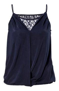 De lækreste ONLY Bluse Tenna M?rk marin fra Halens ONLY Overdele til Outlet til enhver anledning