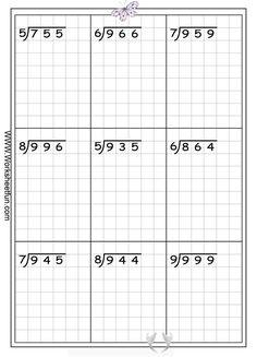 Long Division Free Worksheets | Eva School | Math Division <br>