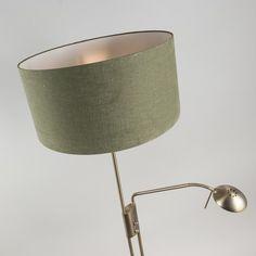 Floor Lamp Luxor Bronze with Moss Green Cylinder Shade Lamp Shade, Moss Green, Cylinder, Green, Lamp, World Of Color, Floor Lamp, Bronze, Shades