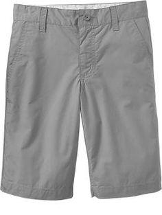 Boy's Flat-Front Poplin Shorts | Old Navy