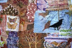 'Small Worlds' – Recycled textile art by Anne Kelly - TextileArtist.org