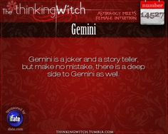 """The Thinking Witch"" Gemini Astrology Fact for Wednesday March 1st"