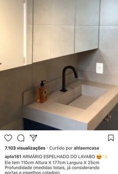 Armário banheiro espelhado