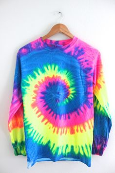 Neon Rainbow Tie-Dye Long Sleeve Tee from Olivia Rose Inc. #want. Shop more products from Olivia Rose Inc on Wanelo. #TieDye