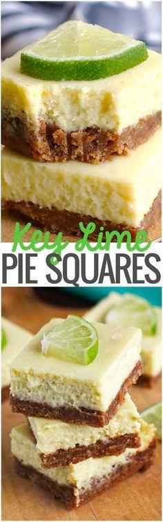 Key Lime Pie Bars - Creamy smooth and so flavorful.Key Lime Pie Bars - Creamy smooth and so flavorful. 13 Desserts, Dessert Recipes, Spring Desserts, Key Lime Desserts, Apple Desserts, Lemon Desserts, Plated Desserts, Key Lime Pie Bars, Lime Recipes