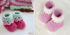 pink-lady-baby-booties-free-crochet-patterns