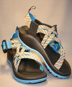 Chacos for kids! And how fun is this multicolored Fiesta Chaco? By far one of the best sandals orthopedic-wise, Chacos have great support, are super durable, and machine washable! Get them while they last!!
