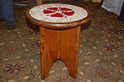 Heraldic mosaic collapsible table