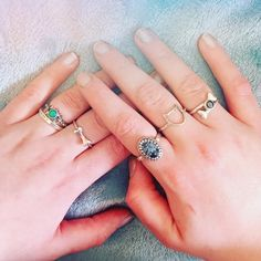 A l l T h e B M M  Check out this awesome collection owned by @shibukyu including one of our Last Chance rings on that important finger!  Shop here  http://ift.tt/2oonkJ8 #bloodymarymetal #TeamBMM