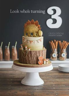 Cake for a birthday boy who loves dinosaurs                              …                                                                                                                                                                                 More