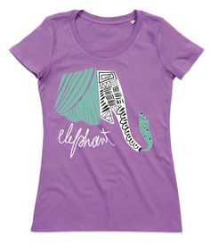 T-shirt Donna Elefante Girocollo Cotone Organico ELEPHANT