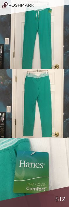 Hanes Jogger pants Hanes jogger pants is in the color Green Berry. Pants is a size small in women's. Never worn. Price firm unless bundled. Smoke free home. Hanes Pants Track Pants & Joggers