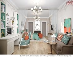 Дизайн детской комнаты для девочки   http://www.ok-interiordesign.ru/ph_dizain-detskoy-komnaty.php