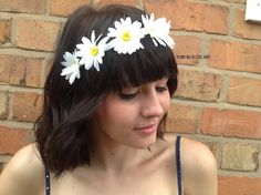 Daisy hair flower headband – a unique product by Jessikahillaccessories on DaWanda