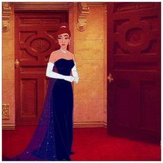 I knew the dress looked familiar!!! Anastasia!!