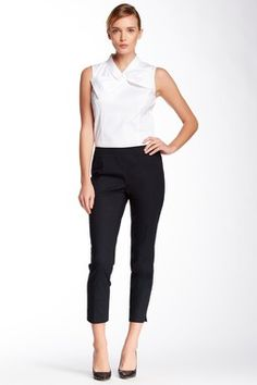 Side Zip Cropped Pant