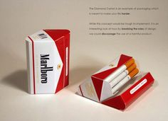 BAD packaging for cigarettes
