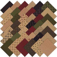 Moda Homestead Gatherings Charm Pack, Set of 42 5-inch (12.7cm) Precut Cotton Fabric Squares Moda Fabrics http://www.amazon.com/dp/B00I4HZ7EK/ref=cm_sw_r_pi_dp_pKffub17EN05R