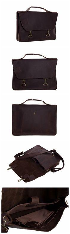 Genuine Leather Briefcase Men's Messenger Bag Laptop Bag Business Handbag