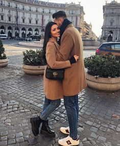 Wearing the smile that you gave me 💖 Couple Chic, Classy Couple, Beautiful Couple, Couple Style, Couple Photoshoot Poses, Couple Photography Poses, Couple Posing, Matching Couple Outfits, Matching Couples