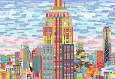 New York City (Hand Cut Collage picture) Collage by Emma Bennett