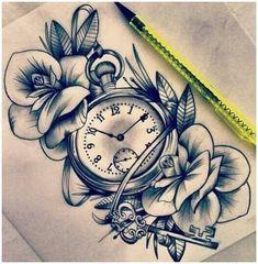 Compass instead of the clock 👌🏼 - Tattoo ideen - Tattoo Designs For Women Trendy Tattoos, Cute Tattoos, Beautiful Tattoos, Body Art Tattoos, New Tattoos, Small Tattoos, Tatoos, Clock Tattoos, Portrait Tattoos
