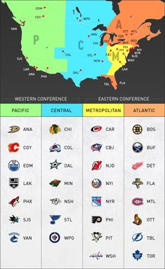 2013-14 NHL Realignment Map
