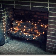 For summer in the fireplace :)