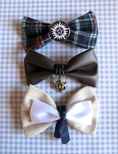 Supernatural hair bow SET by brucelovesyou on Etsy, $30.00