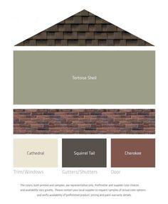 Image result for red orange brick with charcoal mansard roof and charcoal trim White Siding House, Brick House Trim, Brown Brick Houses, Dark Grey Houses, Green Siding, Brick Siding, White Exterior Houses, Brown Garage Door, Brown Front Doors