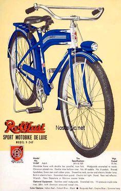 1936 Rollfast V-24F Sport Motobike De Luxe