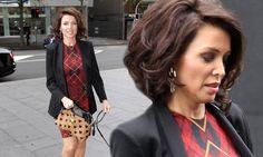 Va va volume! Dannii Minogue transforms her bob into a glam bouffant