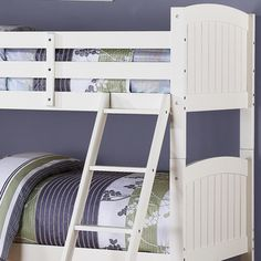 White Beadboard Twin Bunk Bed for girls room