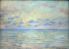 alive-alive-oh: Claude Monet, Marine near Étretat, So simple yet beautiful! Claude Monet, Monet Paintings, Landscape Paintings, Artist Monet, Beaux Arts Paris, Art Japonais, Camille Pissarro, Wow Art, Impressionist Paintings