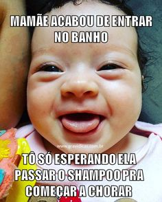 25 melhores memes de maternidade ⋆ GRAVIDICAS Cute Kids, Leo, Haha, Pregnancy, Funny Memes, Humor, Children, 1st Time Moms, Motherhood Funny