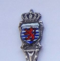 Collector Souvenir Spoon Luxembourg Coat of Arms