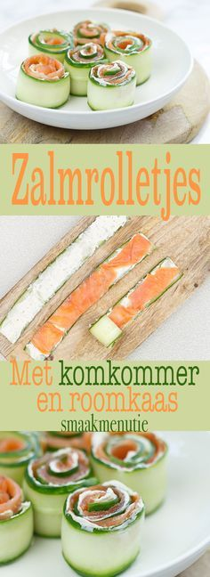 Salmon rolls with cucumber and cream cheese TasteMenution - Essen und Trinkenn Tapas, Snack Recipes, Cooking Recipes, Cooking Bacon, Snacks Für Party, Yummy Appetizers, High Tea, Finger Foods, Love Food